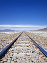 South America, Bolivia, Railway track at Salar de Uyuni area - SEGF000184