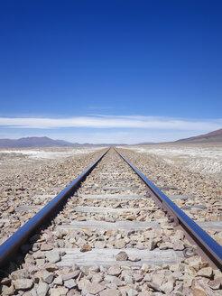 South America, Bolivia, Railway track at Salar de Uyuni area - SEGF000184