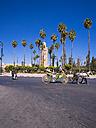 Morocco, Marrakesh, Medina, carriage at Koutoubia Mosque - AM003457