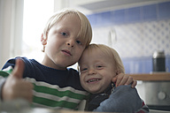 Two little brothers at home - RB002205