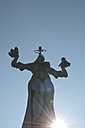 Germany, Baden-Wuerttemberg, Constance, Imperia statue against the sun - JED000200