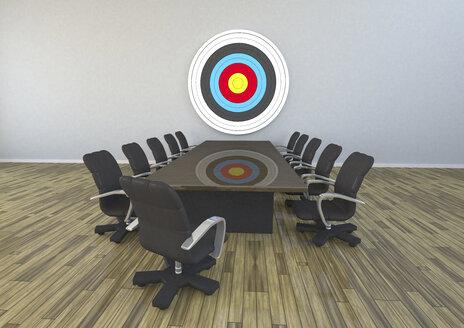 3D Rendering, Meeting Room With Target - ALF000267