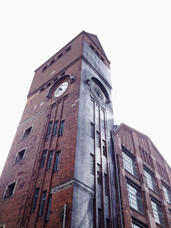Germany, Berlin, building of an old factory, clock tower - MSF004407