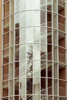 Germany, North Rhine-Westphalia, Duesseldorf, part of glass facade of an office building - DWIF000351