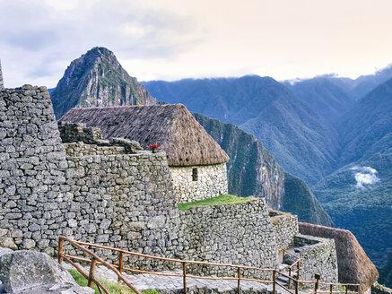 Peru, building at Machu Picchu - SEGF000199
