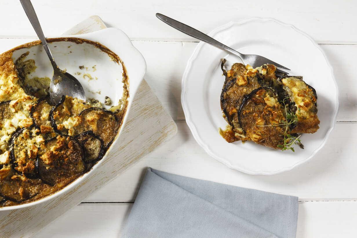 Vegetarian Moussaka With Aubergines Potatoes And Lentils Evgf001083 Eva Gruendemann Westend61