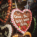 Gingerbread heart on a funfair - GWF003365
