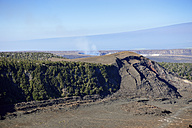 USA, Hawaii, Big Island, Volcanoes National Park, Kilauea Iki and Halema'uma'u crater with Mauna Loa - BRF000923