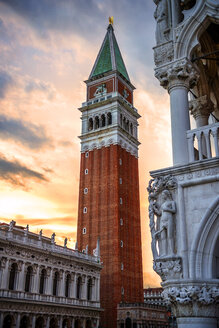 Italy, Venice, St Mark's Campanile at dusk - EHF000042
