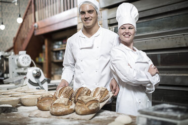 Two bakers and their fresh bread - ZEF003801