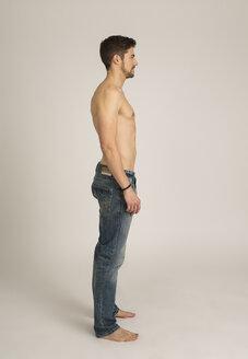 Shirtless man wearing jeans - SHKF000130