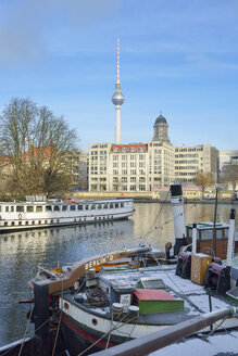 Germany, Berlin, river Spree and TV Tower - RJF000380