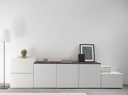 White sidebord in a modern living room - PDF000661