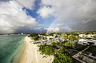 Caribbean, Antilles, Lesser Antilles, Barbados, beach near Garrison, rainbows - THAF001123