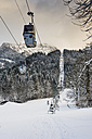 Germany, Bavaria, Berchtesgadener Land, cable car at Jenner mountain in winter - MJ001401