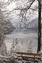 Germany, Bavaria, Berchtesgadener Land, Lake Koenigssee in winter - MJF001404