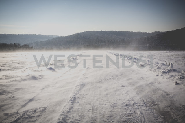 Germany, Kaiserslautern district, Palatinate Forest, winter landscape near Trippstadt - LVF002544