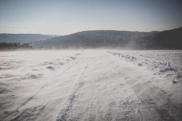 Germany, Kaiserslautern district, Palatinate Forest, winter landscape near Trippstadt - LVF002544