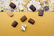 Chocolates on yellow background - LVF002588