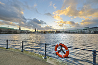 Germany, Hamburg, Germany, Hamburg, Inner Alster Lake at sunset - RJF000392