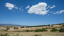 Italy, Sardinia, Gallura, Olbia-Tempio, central Sardinian landscape with dry grasslands - JBF000234