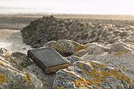 Germany, Lower Saxony, Wremen, Book and stones - SJF000136