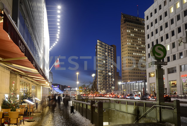 Germany, Berlin, Potsdamer Platz at night - BFR000850