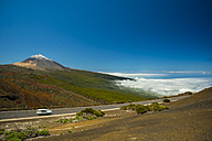 Spain, Canary Islands, Tenerife, Teide National Park, Teide Volcano, road - WGF000568