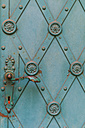 Austria, Linz, part of an old iron Door of a church - EJW000612