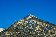 Germany, Bavaria, Oberallgaeu, Allgaeu Alps, near Oberstdorf, Schattenberg and moon - WGF000571