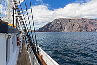 Pacific Ocean, sailing ship at Isabela Island, Galapagos Islands - FOF007542