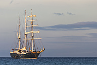 Pacific Ocean, sailing ship at Galapagos Islands - FOF007551