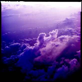 sunset, purple, high, clouds, australia - LULF000023