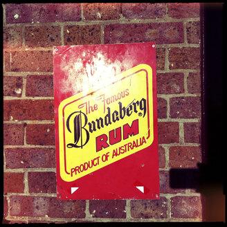vintage sign, alcohlol, bundaberg rum, australia - LUL000064