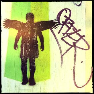 angel, grafitti stencel, tac, street art, perth, western australia - LUL000093