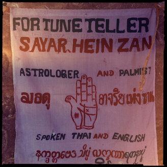 fortune teller, mandalay, myanmar - LUL000206