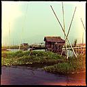 floating village, inle lake, myanmar - LUL000210