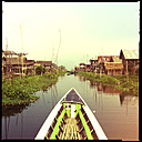 floating village, inle lake, myanmar - LUL000212