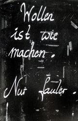 Saying on blackboard - EJW000649