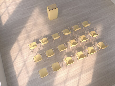 3D Rendering, chairs and lectern - UWF000348
