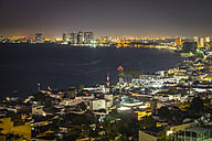 Mexico, Puerto Vallarta, Banderas Bay by night - ABAF001619