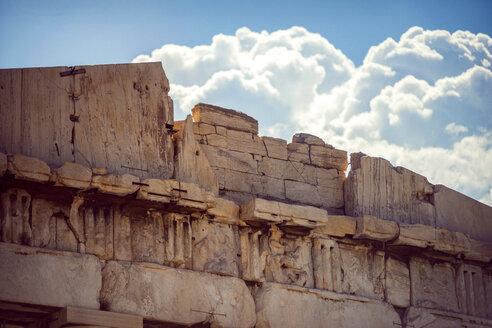 Greece, Athens, detail of Parthenon temple - EHF000081