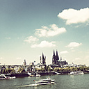 Germany, Cologne, cityscape with Cathedral - GWF003617