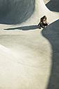 Lonely teenage girl in skatepark - UUF003054
