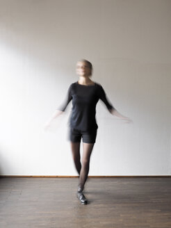 Young woman step dancing - LAF001294