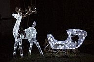 Canada, Vancouver, Christmas illuminations, Reindeer sleigh - NGF000187