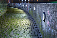 Germany, Duesseldorf, waterfront promenade at River Rhine at night - WI001375