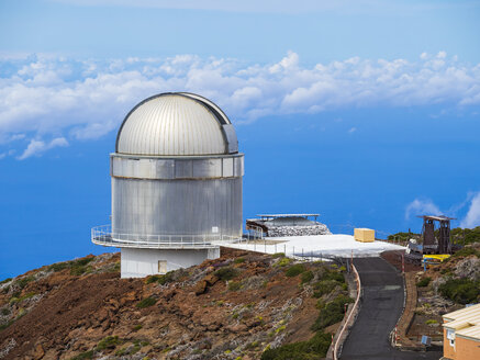 Spain, Canary Islands, La Palma, Observatory at Roque de los Muchachos, Nordic Optical Telescope - AM003632