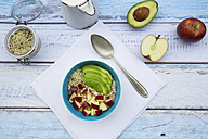 Avocado apple muesli with hemp seeds - LVF002639
