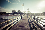 Germany, Baltic Sea, Dahme, jetty by the sea - KRPF001283